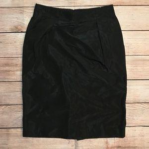 Banana Republic Black Lined High Waist Skirt